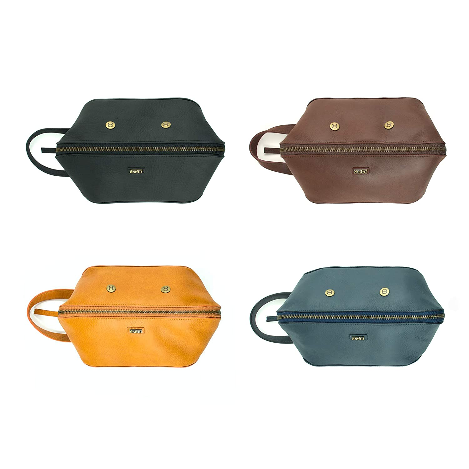 Leather Wrist Removable Pouch Inside draft-8 Leather Goods Unisex Toilet Pouch
