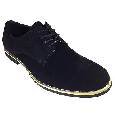 Men's Suede Dress Buck Oxfords Lace Up Shoes (dak01) (10, Black)   Oxfords