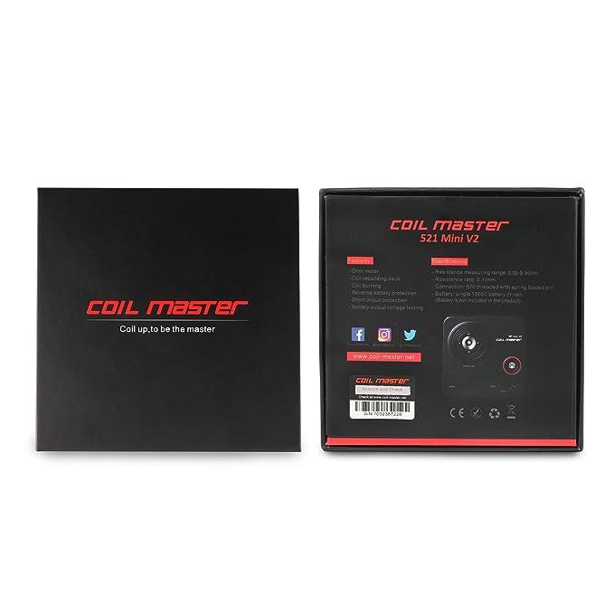 Comprobador de resistencia eléctrica multifunción con pantalla OLED para reconstrucción de bobinas VPDeal Coil Master 521: Amazon.es: Bricolaje y ...