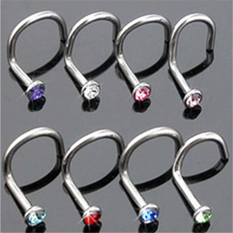 10 pcs Punk Style Piercing Nose Lip Jewelry Body Jewelry For Man Women Studs 2mm Pick