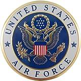 美国*金属汽车贴花徽章,10.16 cm 2英寸 白色 FBA_49 Series