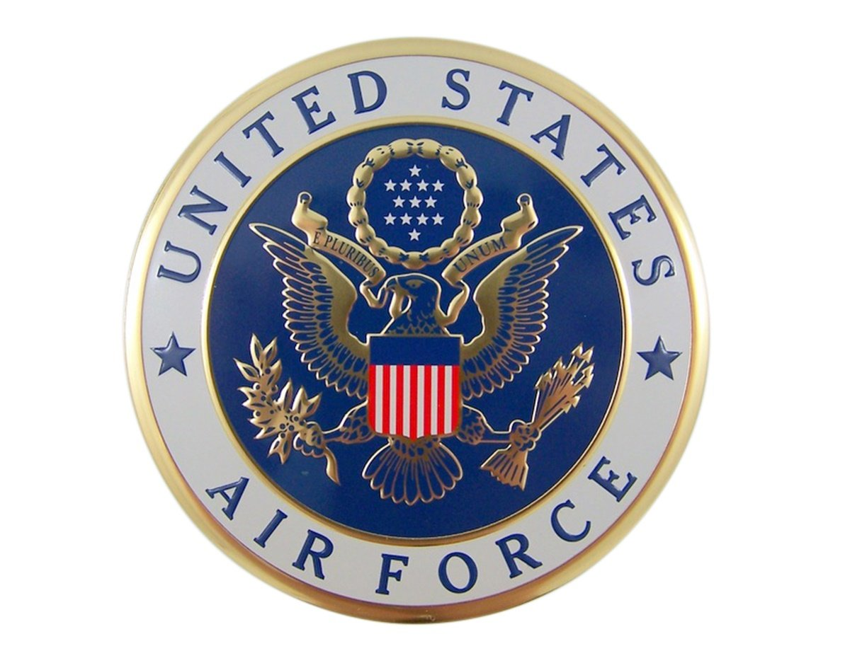 Amazon com united states military air force metal auto decal emblem 4 inch automotive