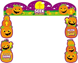 Religious Trunk Or Treat Decorating Kit for Halloween - Party Decor - Wall Decor - Cutouts - Halloween - 7 Pieces