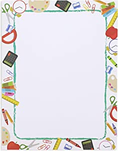 School Letterhead Stationery Paper (8.5 x 11 In, 96 Count)