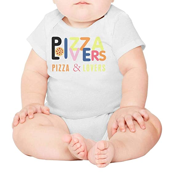 Baby Onesies Rose Pizza 100/% Cotton Bodysuits Comfortable Short Sleeve Bodysuit