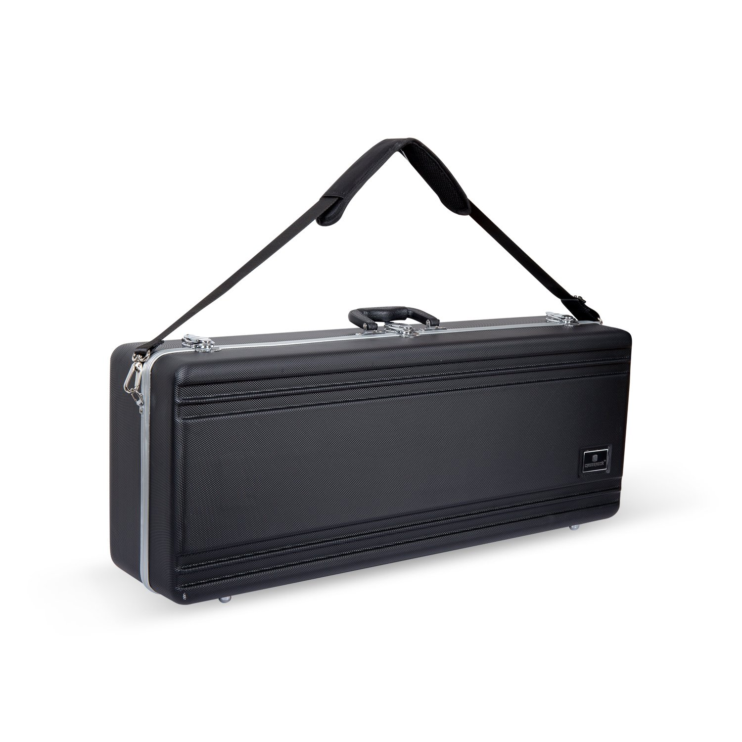 Crossrock CRA860TSBK-R Tenor Saxophone Case- Rectangular ABS Molded with Single Shoulder Strap in Black Crossrock Case Company
