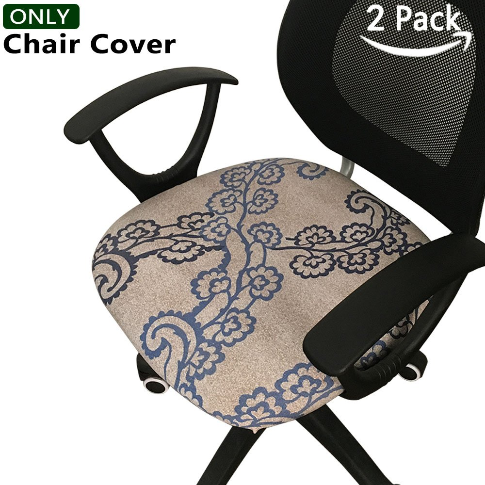 Meloshow 2-Pack Chair Covers - Protective & Stretchable Dinning Chair Seat Covers: Fits Round And Square Chairs. For Kids, Pets