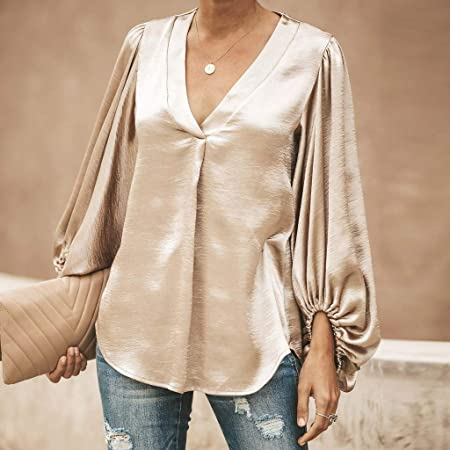 iSkylie Women Blouse Spring Casual Patchwork Color Block O-Neck Long Sleeve T-Shirt Sweatshirt Top Coaches' & Referees' Gear