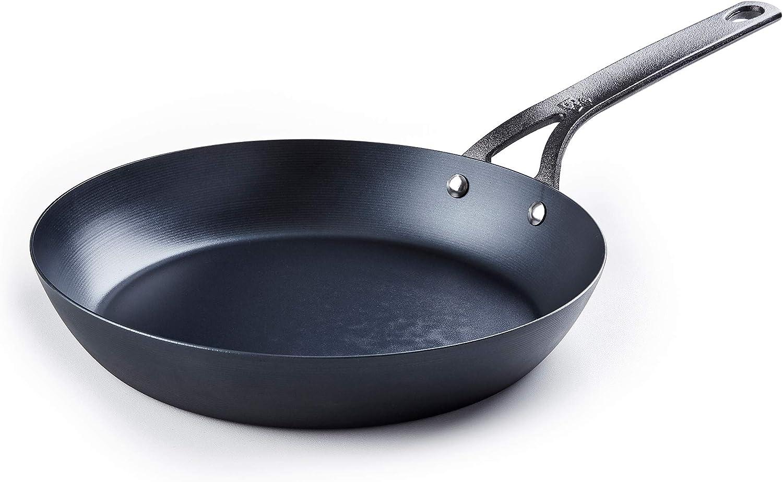 BK Cookware CC002352-001 Black Carbon Steel Skillet, 10'