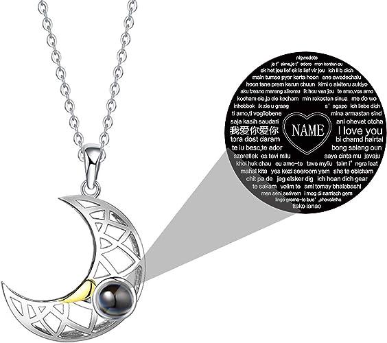 Ich liebe dich 100 Sprachen Projektions-Anhänger-Halskette an Liebe SchmucRSPF