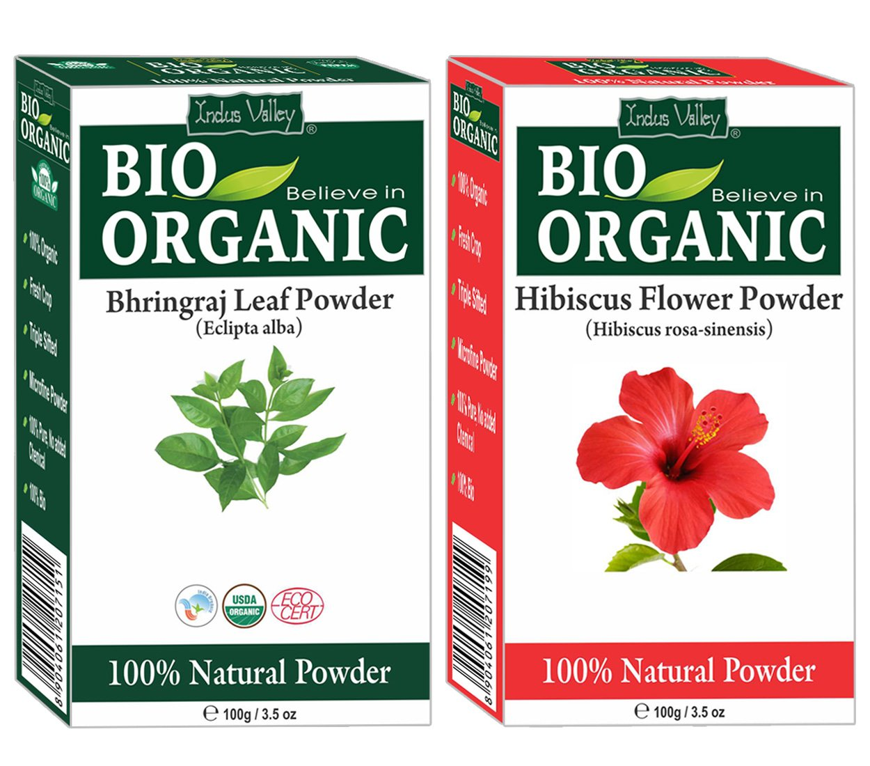 Buy indus valley bhringraj leaf powder with hibiscus flower powder buy indus valley bhringraj leaf powder with hibiscus flower powder fdra114 100g pack of 2 online at low prices in india amazon izmirmasajfo