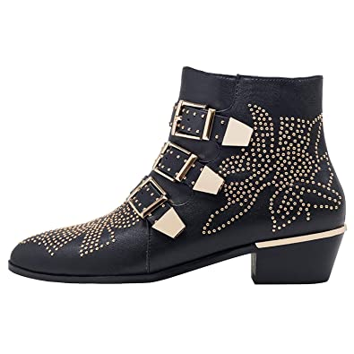19d124f6e12c GEEDIAR Leather Ankle Boots