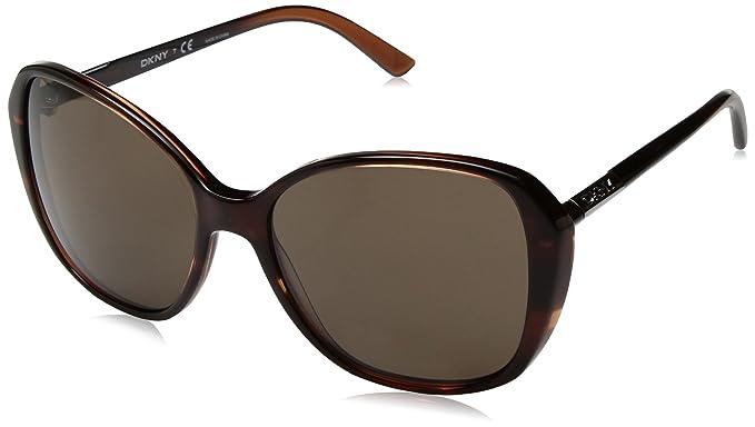 Amazon.com: DKNY mujer cuadrado anteojos de sol de plástico ...
