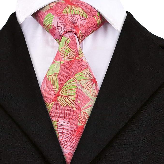 Corbatas Para Hombres Novely Corbatas De Seda 100% Floral Cravatas ...