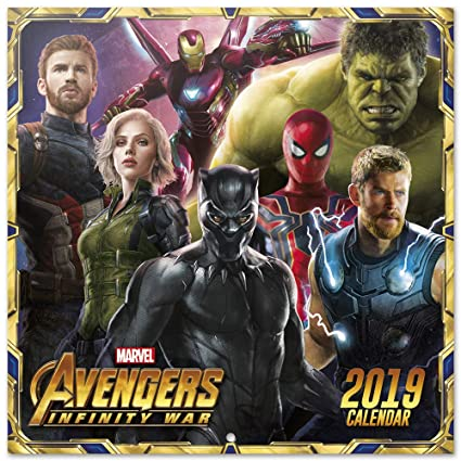 Marvel Calendrier.Grupo Erik Editores Cp19037 Calendrier 2019 Marvel Avengers 30 X 30 Cm