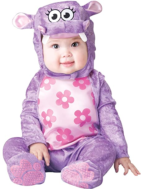 Fun World Baby Girls' Huggable Hippo Costume, Purple, L
