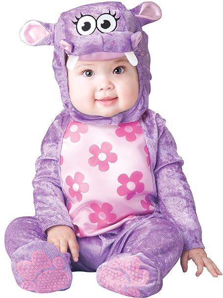 Fun World Baby Girls' Huggable Hippo Costume, Purple, L