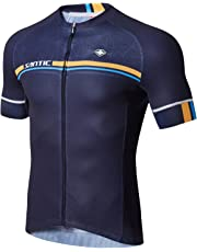 Cycling Jerseys SANTIC Men s Short Sleeve Bike Shirts Full Zip Bicycle  Jacket with Pockets a541dc6e0