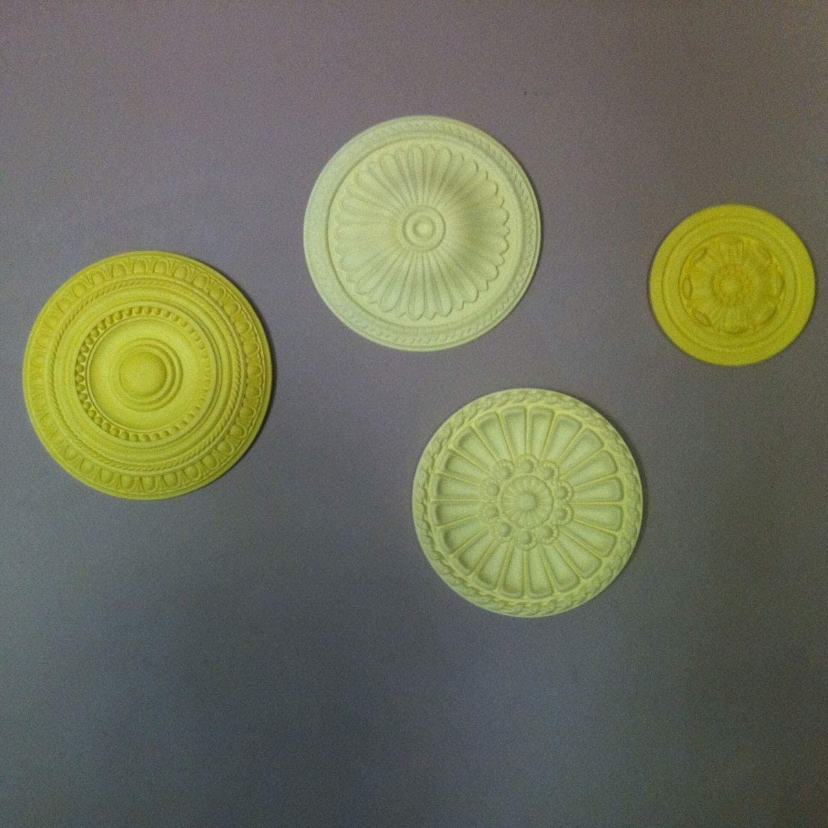 Ekena Millwork CM14AX2-03500 Alexa Ceiling Medallion Fits Canopies up to 3 1//2 15OD x 3 1//2ID x 1 3//4P Factory Primed