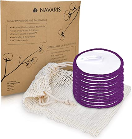 Navaris Discos desmaquillantes para la cara y ojos de algodón ...