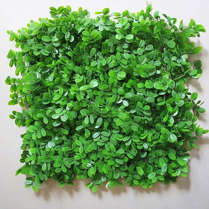 WEWE Privacidad Seto De Césped Artificial, Usar como Muros Falsos De Vegetay Planta Topiary Adecuada Tanto para Exteriores como para Interiores Decoración del Hogar-d 50x50cm(20x20inch): Amazon.es: Jardín