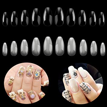 Smart Fake Long Diy Coffin Shape Nail Art Tips False Cover False Ballerina Nails Making Things Convenient For Customers Health & Beauty