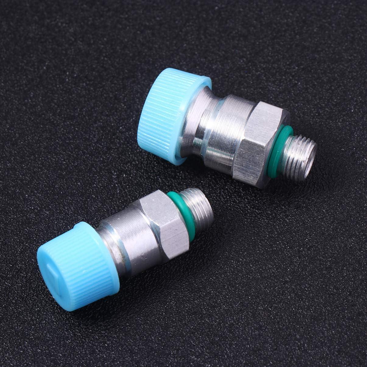 Wakauto 2 Pcs Moteur Tech R/églable R134A Adaptateur Raccords Attache Rapide Haute Faible AC Fr/éon Manom/ètre Collecteur Jauge Kit De Conversion De Tuyau