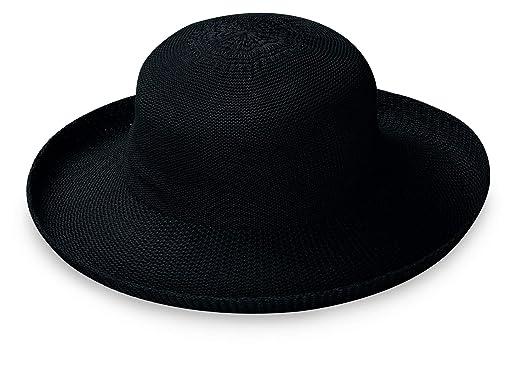 Wallaroo Hat Company Women s Victoria Sun Hat – Black – Ultra-Lightweight e597523d7d92