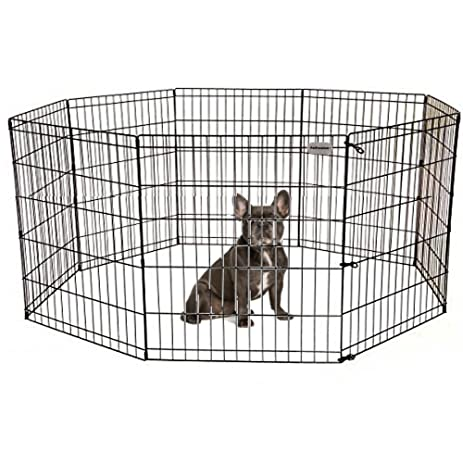 PetPremium Dog Puppy Playpen Pen | Indoor Outdoor Exercise Play Yard  Outside | Pet Small Animal