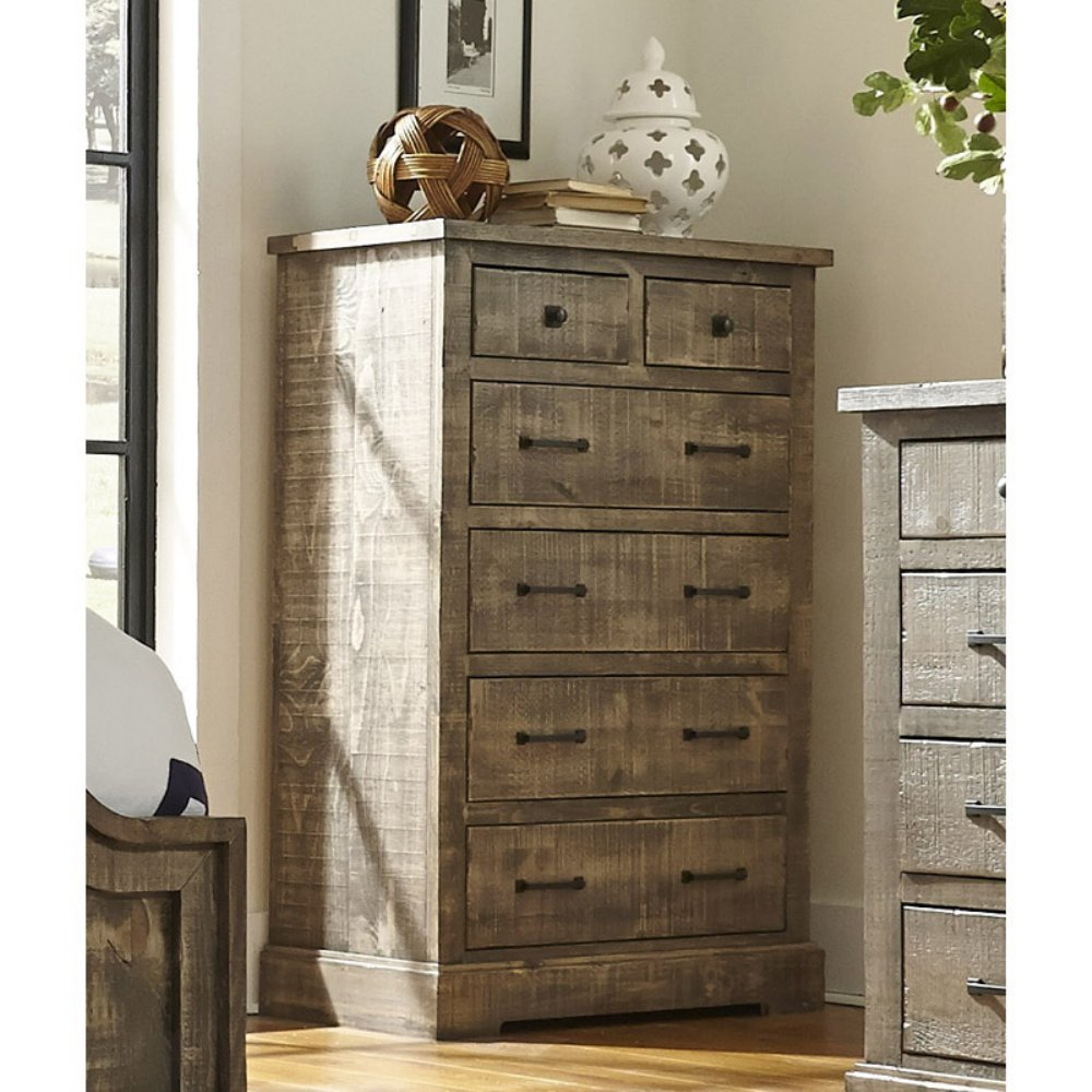 Progressive Furniture P632-14 Meadow Chest, 38'' x 18''x 55'', Weathered Gray