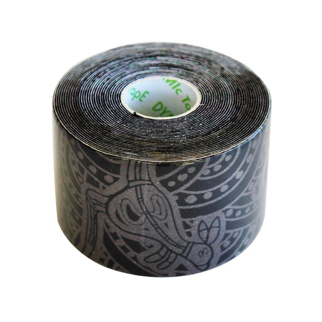 Dynamic Tape Eco Black - Grey Print 2 in x 16.4 ft - 1 Roll