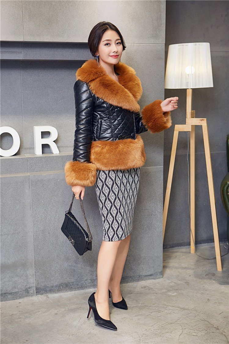 Generic New women's fall and winter clothes Dongguk door big yards tidal sheep fur imitation fox fur short fur coat for women girl