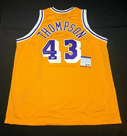 53bf159e Mychal Thompson Autographed Signed Memorabilia Los Angeles Lakers  Basketball Jersey 2X Nba Champ PSA/DNA