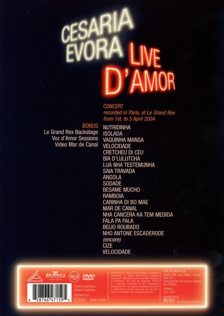 Live D'Amor - Cesaria Evora in Concert by RCA