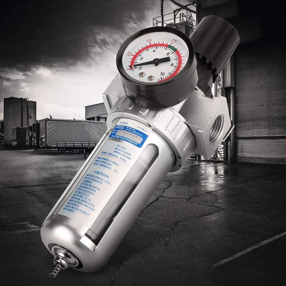 BSP 1//2Luftfilterregler Luftkompressor Feuchtigkeit Wasserabscheider Luftwerkzeug Teile f/ür Bracket Gauge Auto Drain mit Mount Verbindung MEHRWEG VERPACKUNG