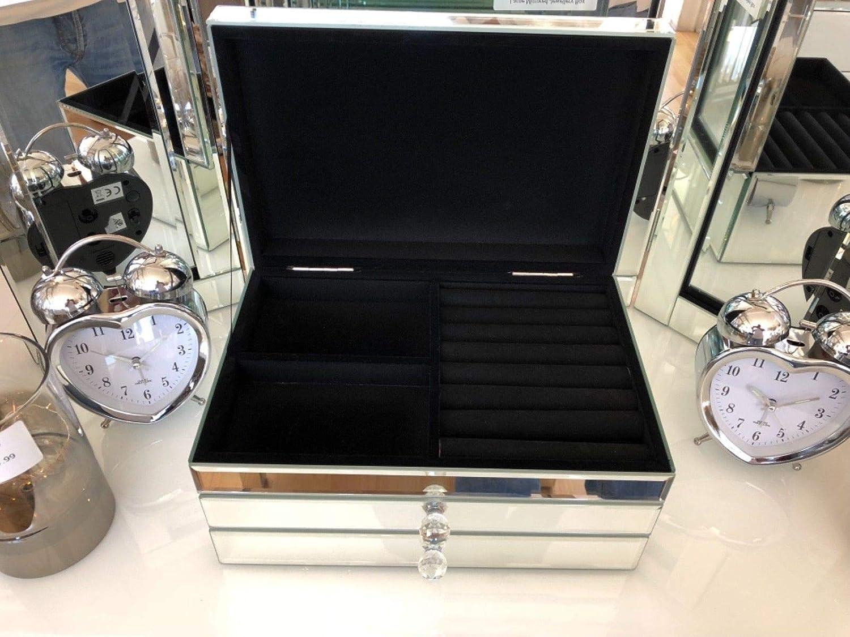 Generic D Ouverture Topery Box W avec tiroirs Neuf Grande Ouverture avec Miroir et bo/îte /à Bijoux Top Neuf Grande Mirro