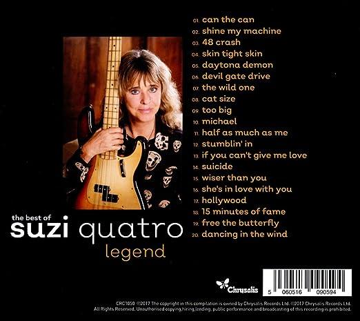 amazon legend the best of suzi quatro 輸入盤 音楽