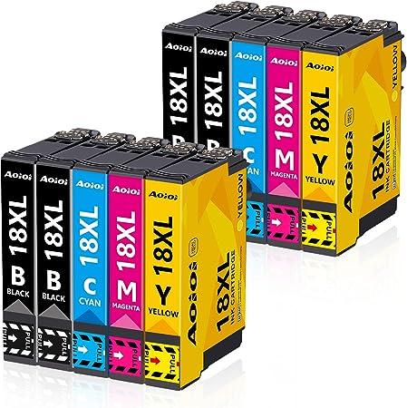 Aoioi 18xl Druckerpatronen Ersatz Für Epson 18 18xl Patronen Kompatible Für Epson Expression Home Xp 202 Xp 205 Xp 215 Xp 225 Xp 305 Xp 312 Xp 322 Xp 325 Xp 402 Xp 405 Xp 412 Xp 415 Xp 425 10 Pack Bürobedarf