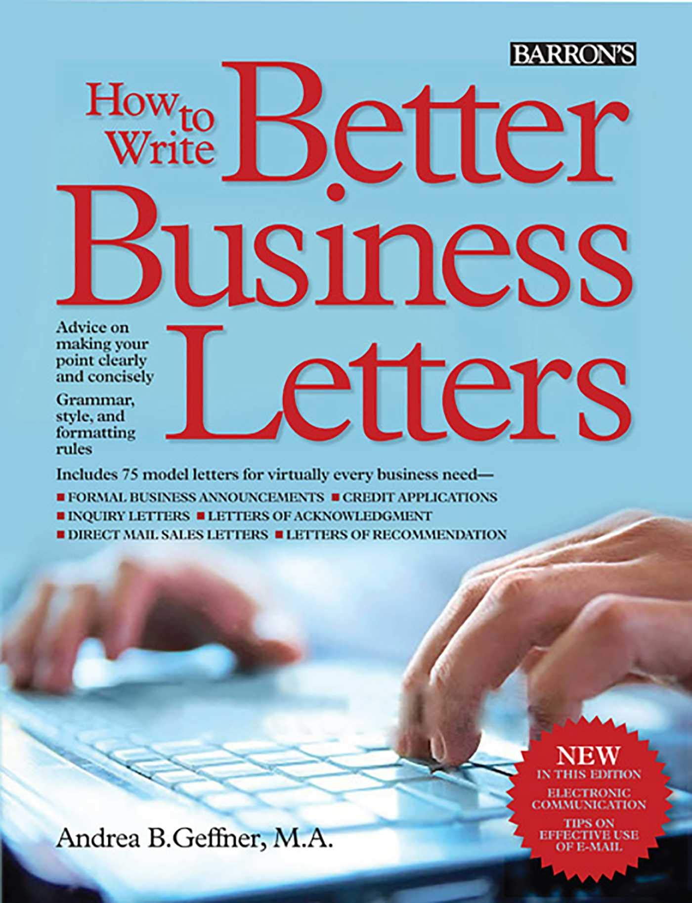 How to Write Better Business Letters (Barron's How to Write Better Business Letters) pdf