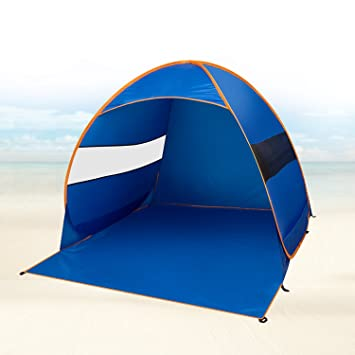 FiveJoy Instant Pop-Up Cabana Beach Tent - Automatic Setup in Seconds - Great Sun  sc 1 st  Amazon.com : beach tent uv protection - memphite.com
