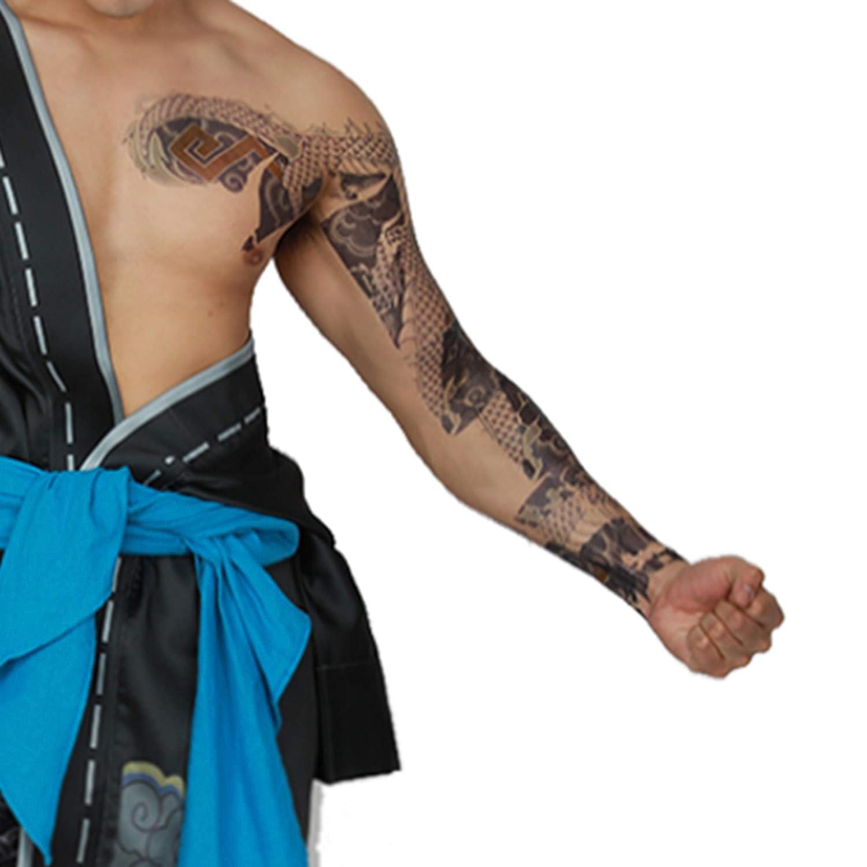 Hanzo Arm tatuajes temporales calcomanías - Brazo completo y ...