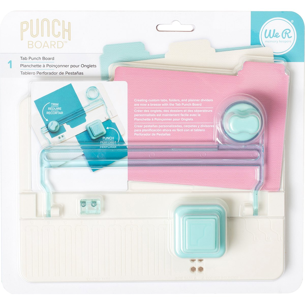 We R Memory Keepers 0633356631057 Board Punch Board & Punch-Tab by We R Memory Keepers