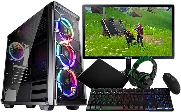 THE GAMINGSTORE: PC GAMING COMPLETO PACK DE ORDENADOR DE SOBREMESA COMPLETO AMD RYZEN 5 2600G CON GTX 1650+ MONITOR DE 22 PULGADAS + TECLADO Y RATON ...