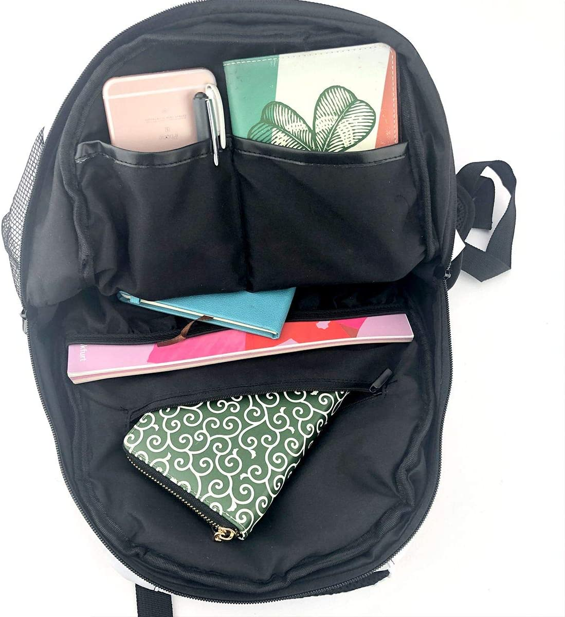 Black Butterfly Printed Graphic Backpack Novelty Schoolbag For Boys Girls