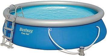 Bestway 57294 Fast Pool Set 457 x 107 cm, con Bomba de Filtro y Accesorios