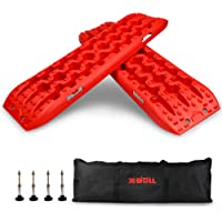 X-BULL New Recovery Traction Tracks Sand Mud Snow Track Tire Ladder 4WD (3Gen) (3Gen, Orange)
