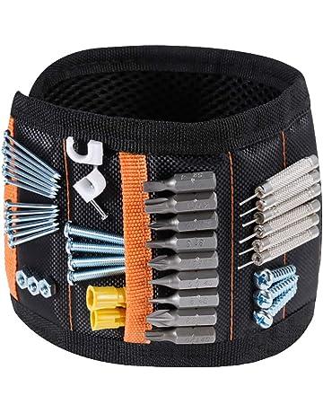 Rovtop Pulsera Magnética Ajustable con 15 Súper Imanes, 2 Bolsillos Pequeños, para Ahorra las