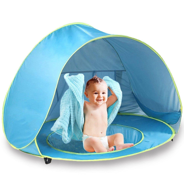 OldPAPA Bébé Tente de Plage Portable Abat-Jour Piscine Protection UV Sun Shelter Tente de Pop-up pour Bébé Vchoco