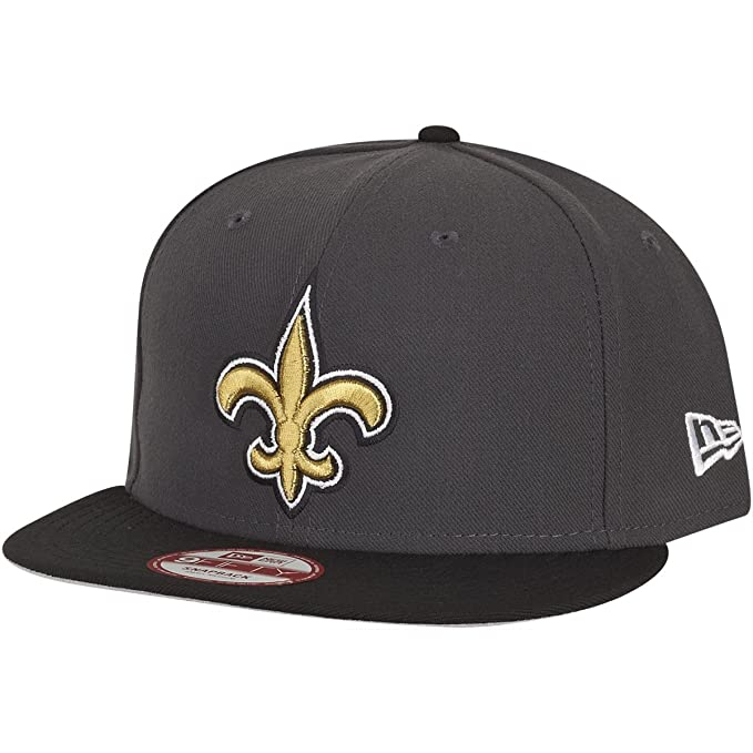 New Era NFL New Orleans Saints Graphite Snapback Cap S M 9fifty Limited  Edition ca33f0edc1c