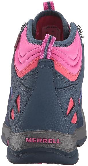 b4b990533c332 Merrell Girls' Capra Mid Waterproof Low Rise Hiking Shoes: Amazon.co.uk:  Shoes & Bags